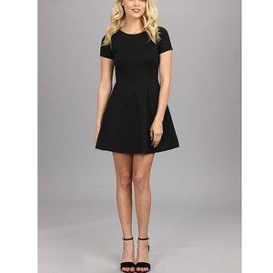 BCBGeneration Cap Sleeve Black Skater Dress Size S